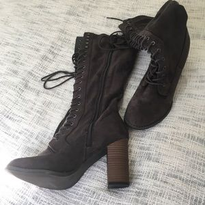 Andeawy Shoes - Andeawy Boots Size 9 Lace dark suede brown